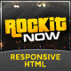 Rockit Now - Music Band Template - ThemeForest Item for Sale