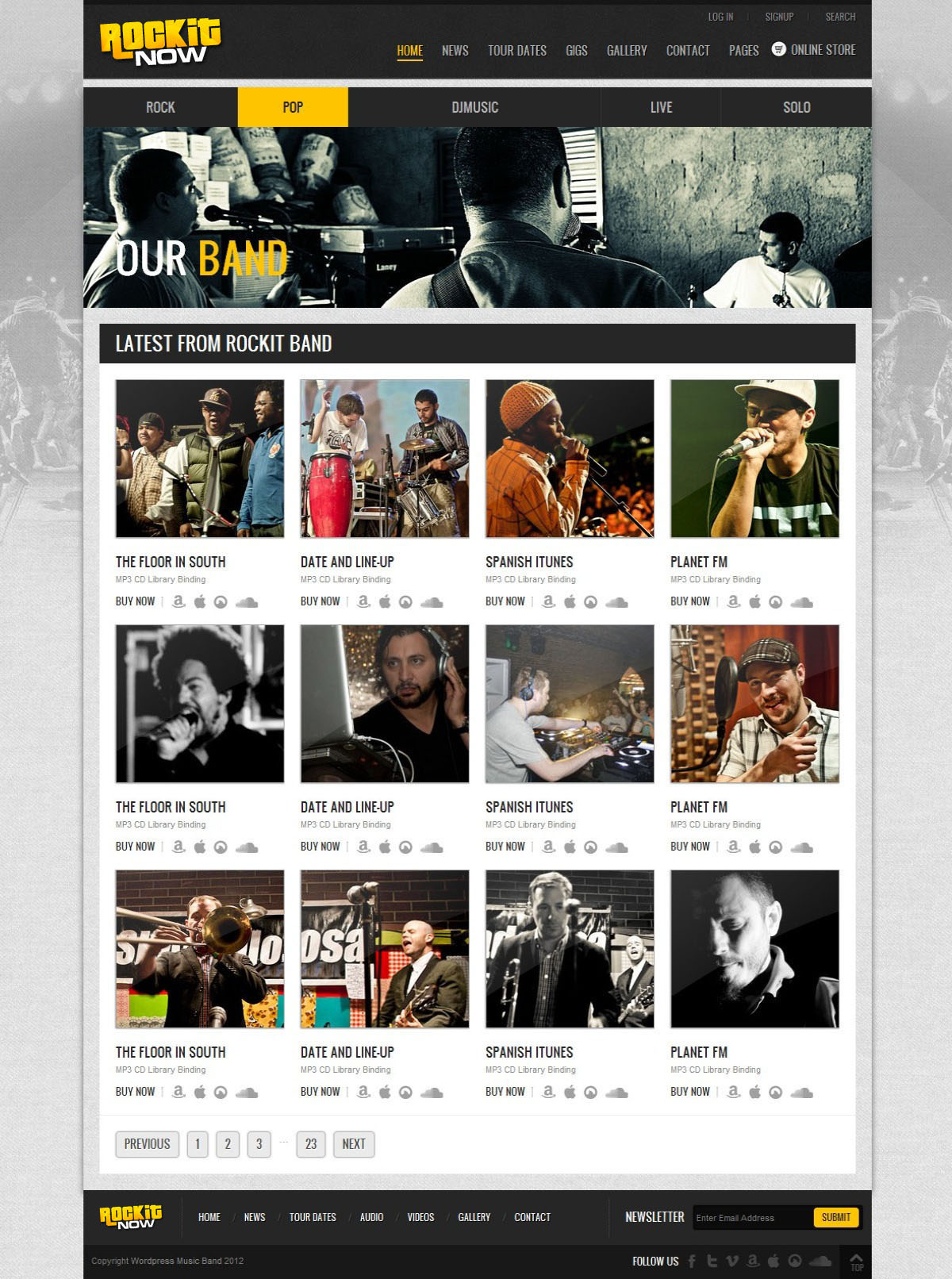 Rockit Now - Music Band Template