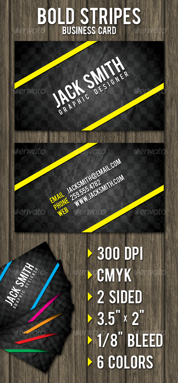 Bold Stripes Business Card