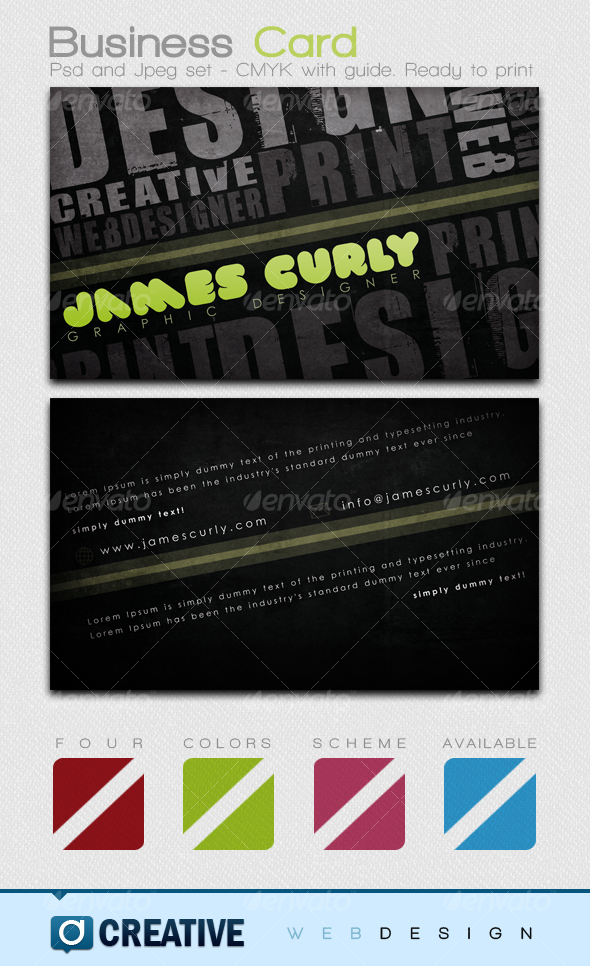 Grunge Business Card PSD