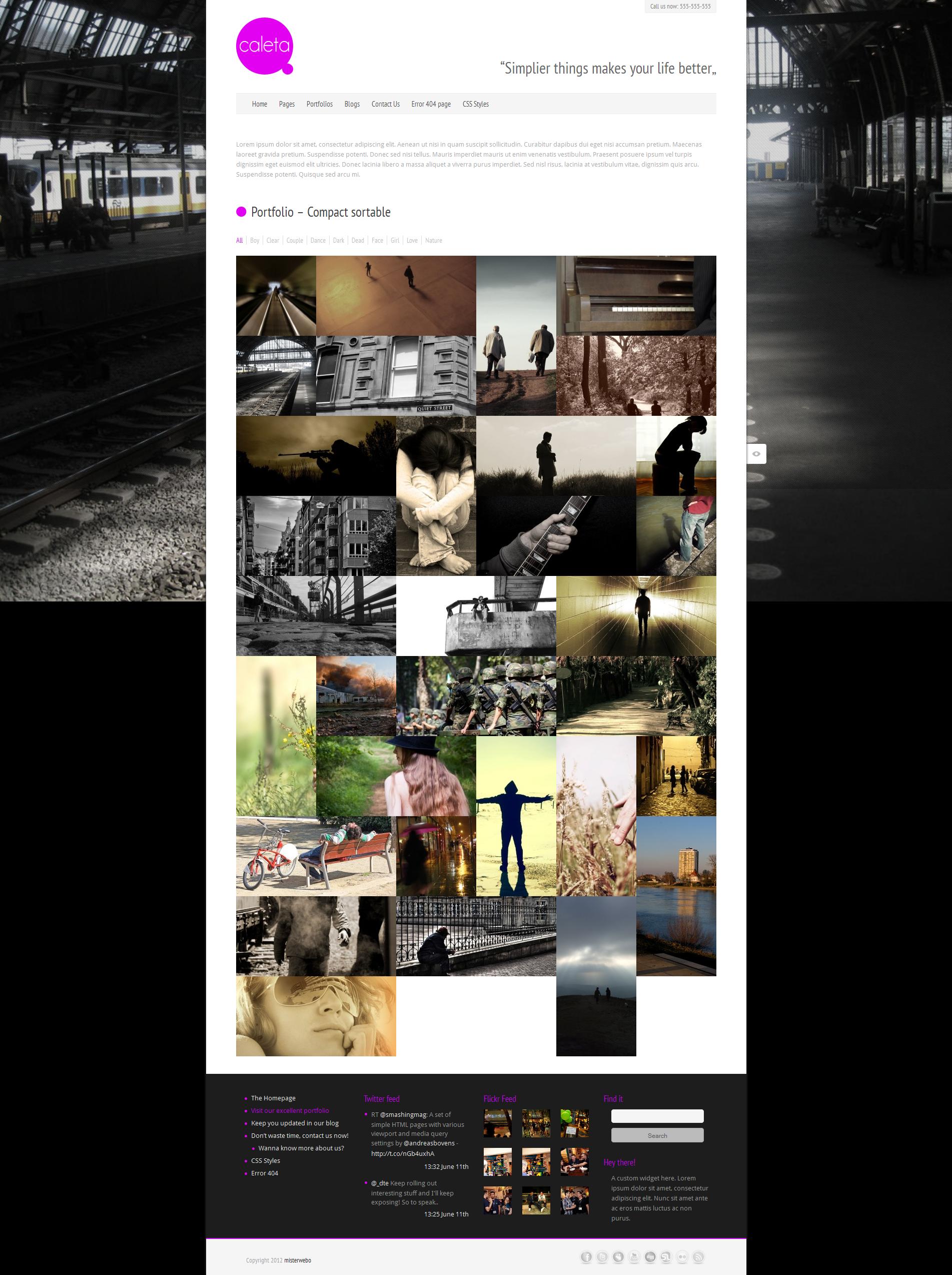 Caleta Responsive Portfolio & Photography
