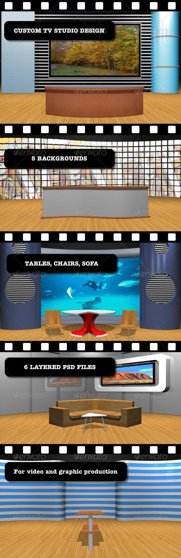 GraphicRiver Custom TV Studio Design 2756190