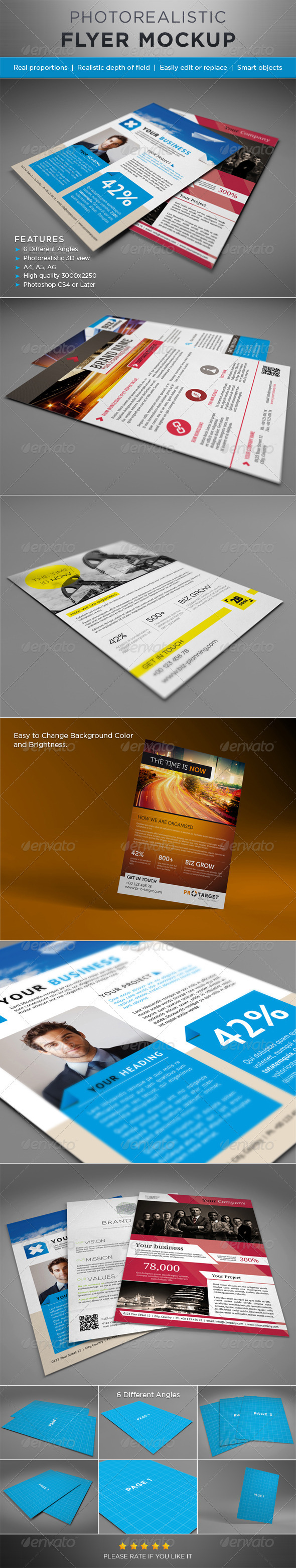 Photorealistic Flyer Mock-ups - Flyers Print