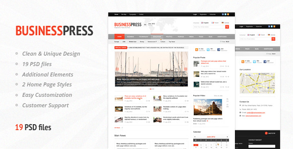 Business News - Premium Magazine PSD Template