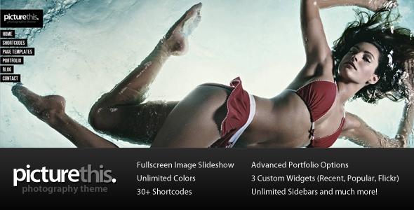 ThemeForest PictureThis Fullscreen Portfolio WordPress Theme 232363