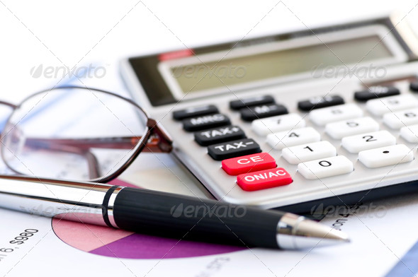 Stock Photo - PhotoDune Tax Calculator Pen And Glasses 195756