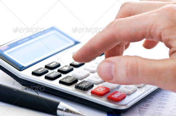 Stock Photo - PhotoDune Tax Calculator And Pen 195792
