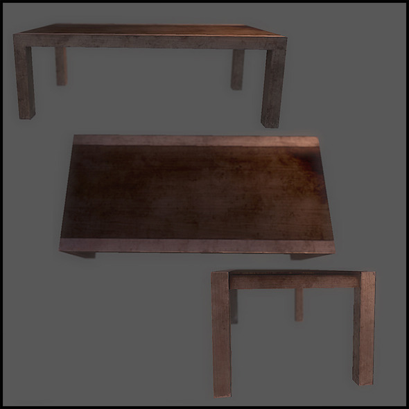 Classic Dining Table - 3DOcean Item for Sale