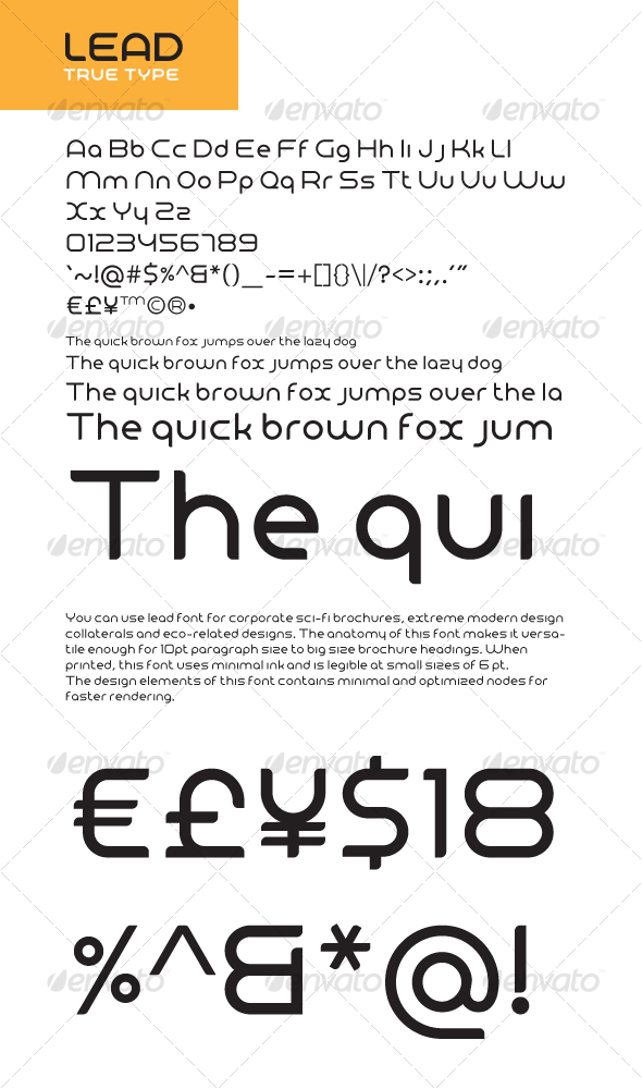 Lead True Type v1.0 - Sans-Serif Fonts