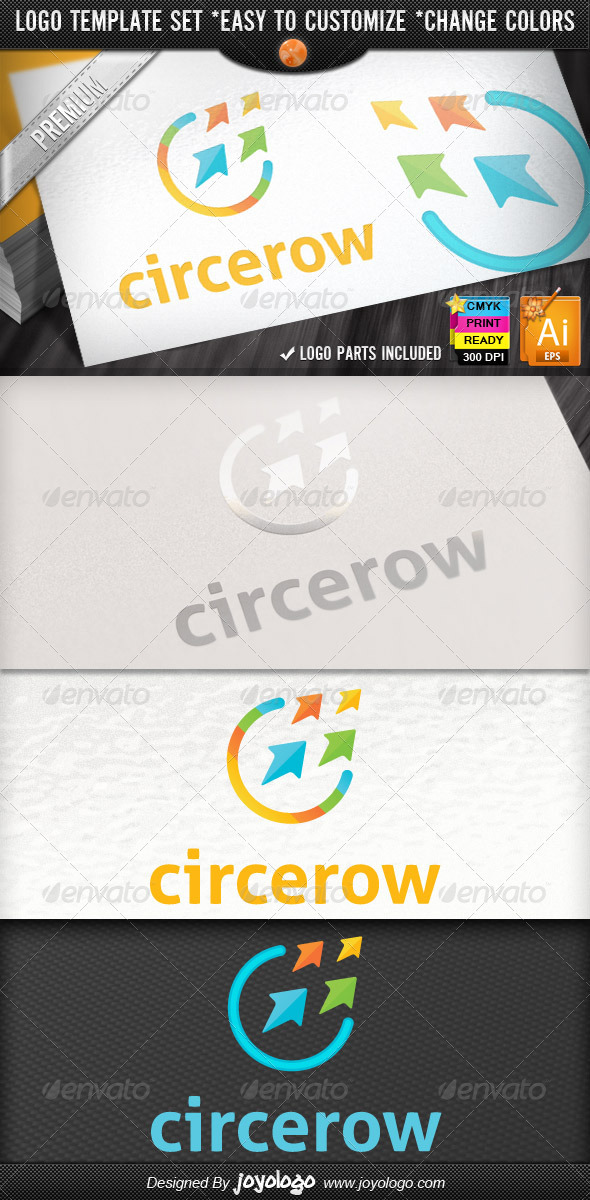 Circle Arrow Business Growth Marketing Logo Design - Symbols Logo Templates