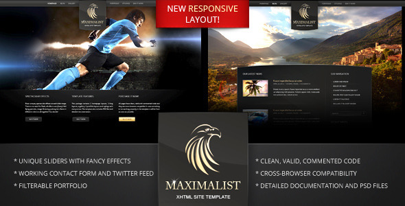 ThemeForest Maximalist XHTML Template 2284024