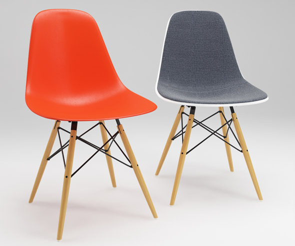 3DOcean Photoreal Eames Chair DSW & vray materials 2759886