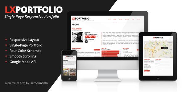 LXPortfolio - Single Page Responsive Portfolio