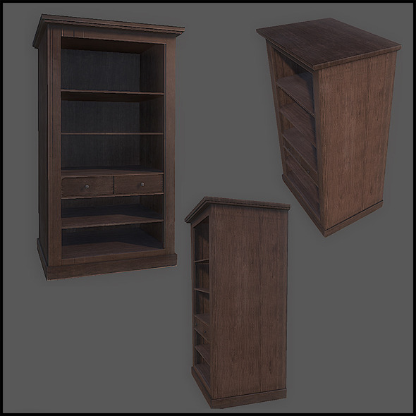 Classic Cupboard Tall - 3DOcean Item for Sale