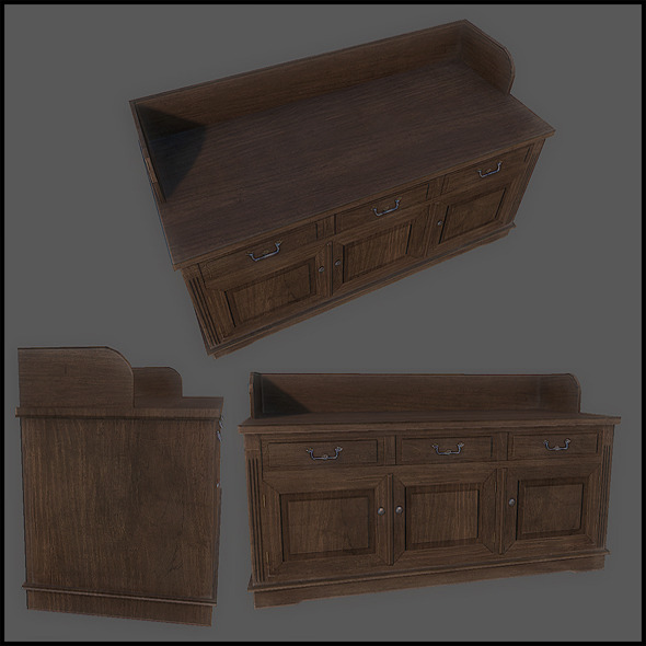 Classic Cupboard Wide - 3DOcean Item for Sale