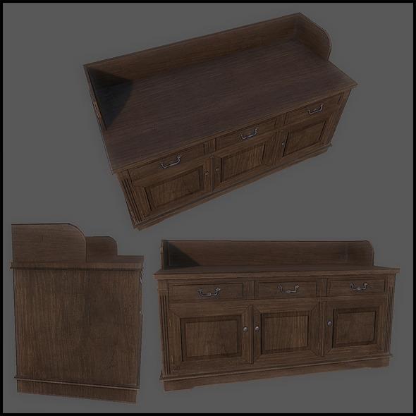 3DOcean Classic Cupboard Wide 2760332