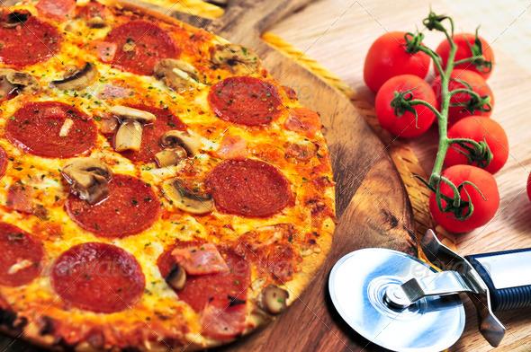 Stock Photo - PhotoDune Pepperoni Pizza 196205