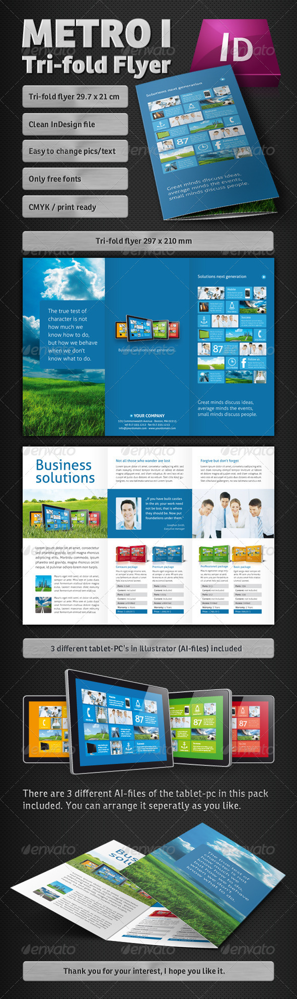 Metro Tri-fold Flyer - Corporate Flyers
