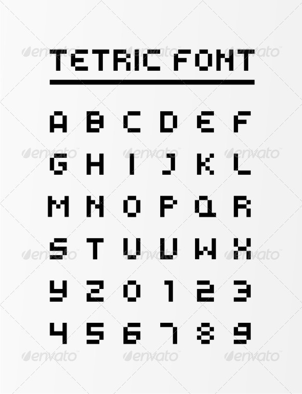 Tetric Glyphs - Objects Vectors