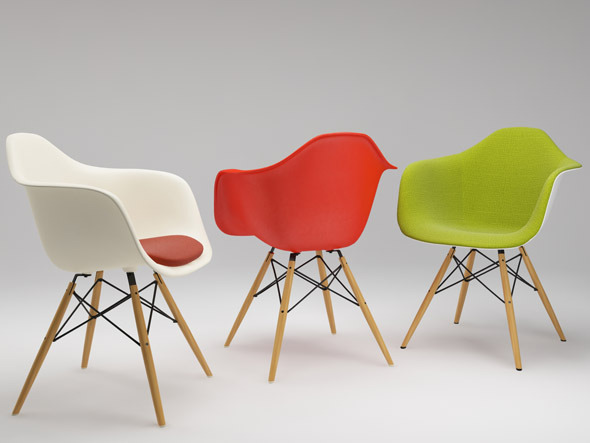 3DOcean Photoreal Eames Chair DAW & vray materials 2760621