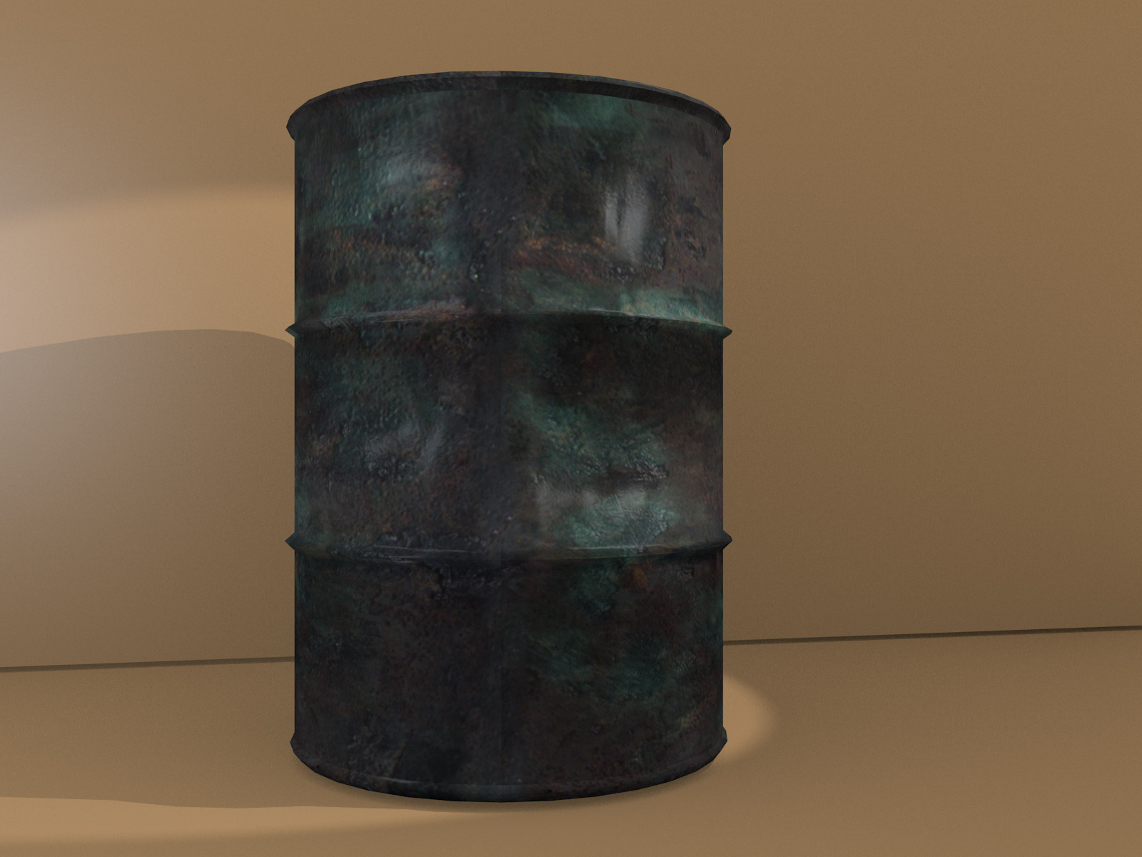 rusty barrel - 3DOcean Item for Sale