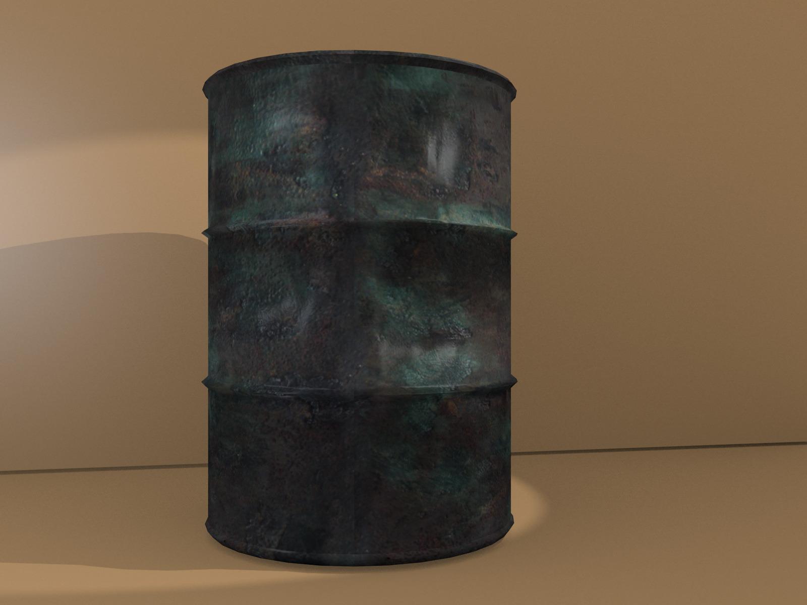 3DOcean rusty barrel 2760625