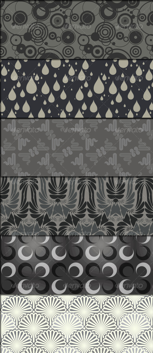 GraphicRiver 7 special retro style patterns 99524
