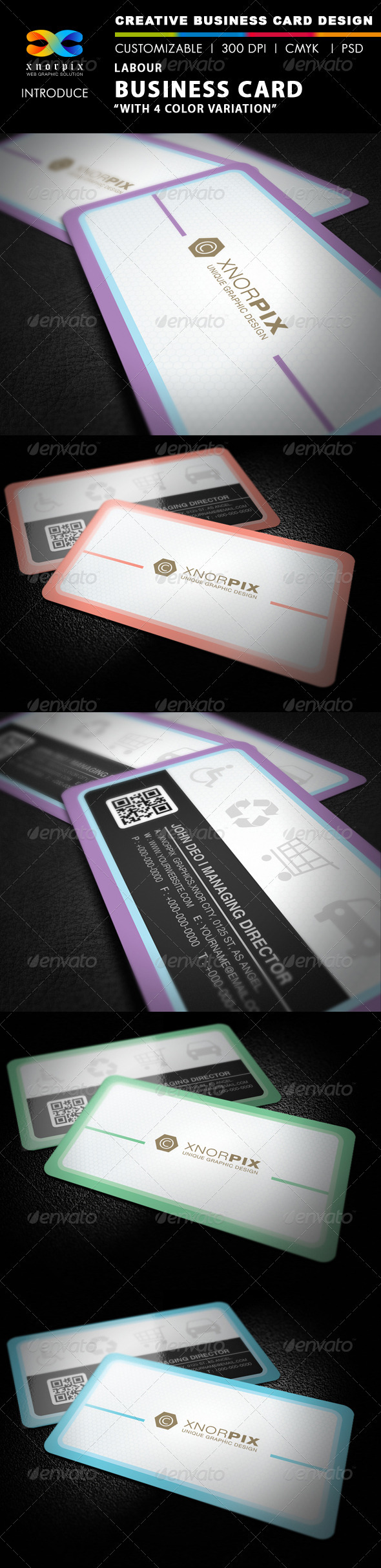 Labour Business card - Corporate Business Cards
