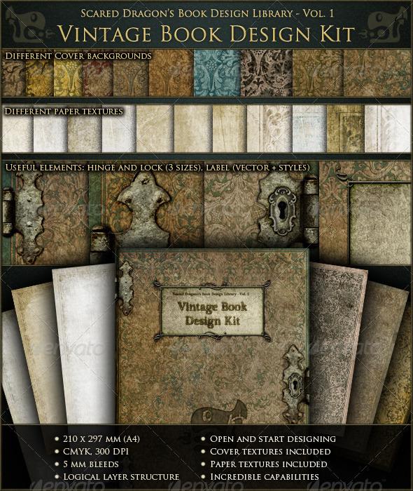 Vintage Book Design Kit - Miscellaneous Print Templates