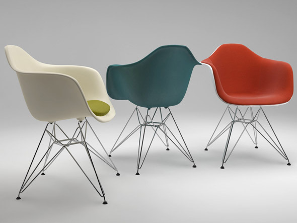 3DOcean Photoreal Eames Chair DAR & vray materials 2761608