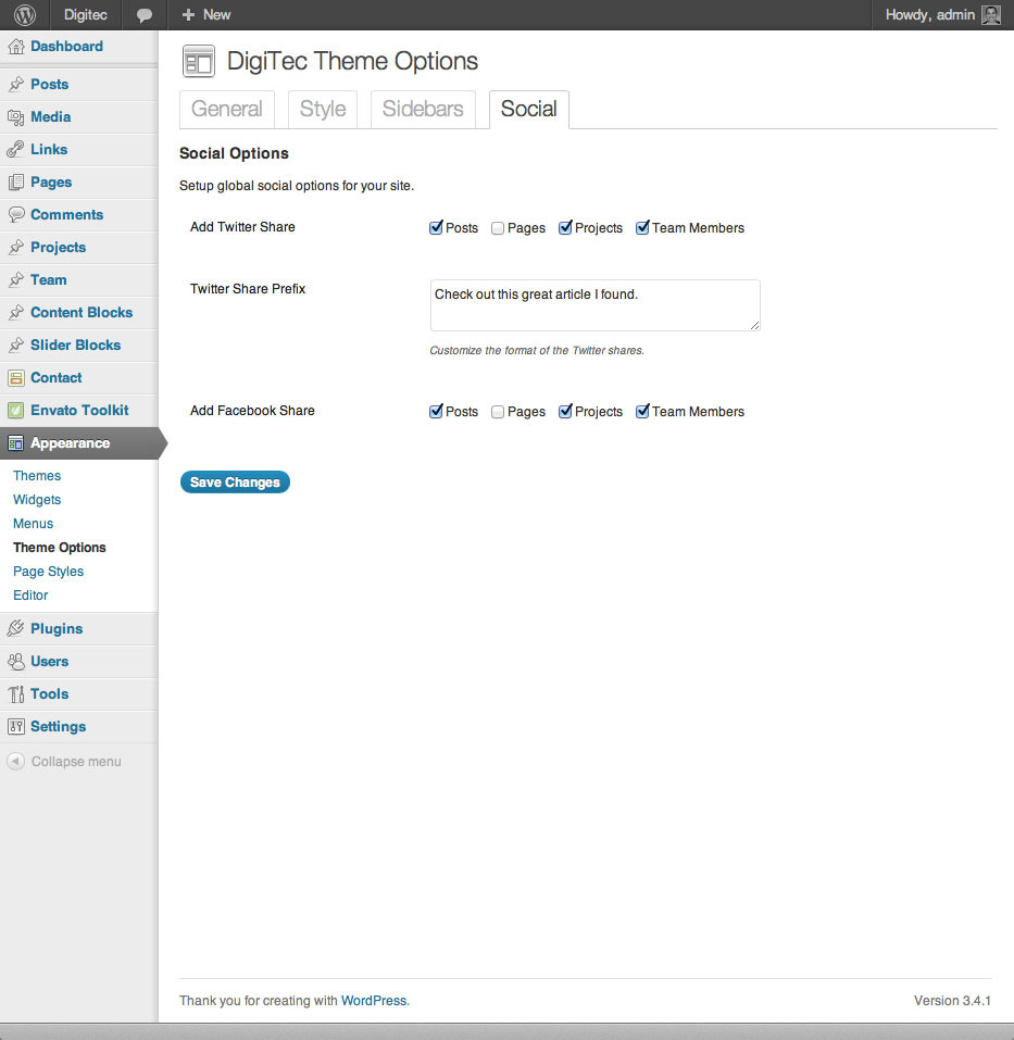 DigiTec WordPress Theme