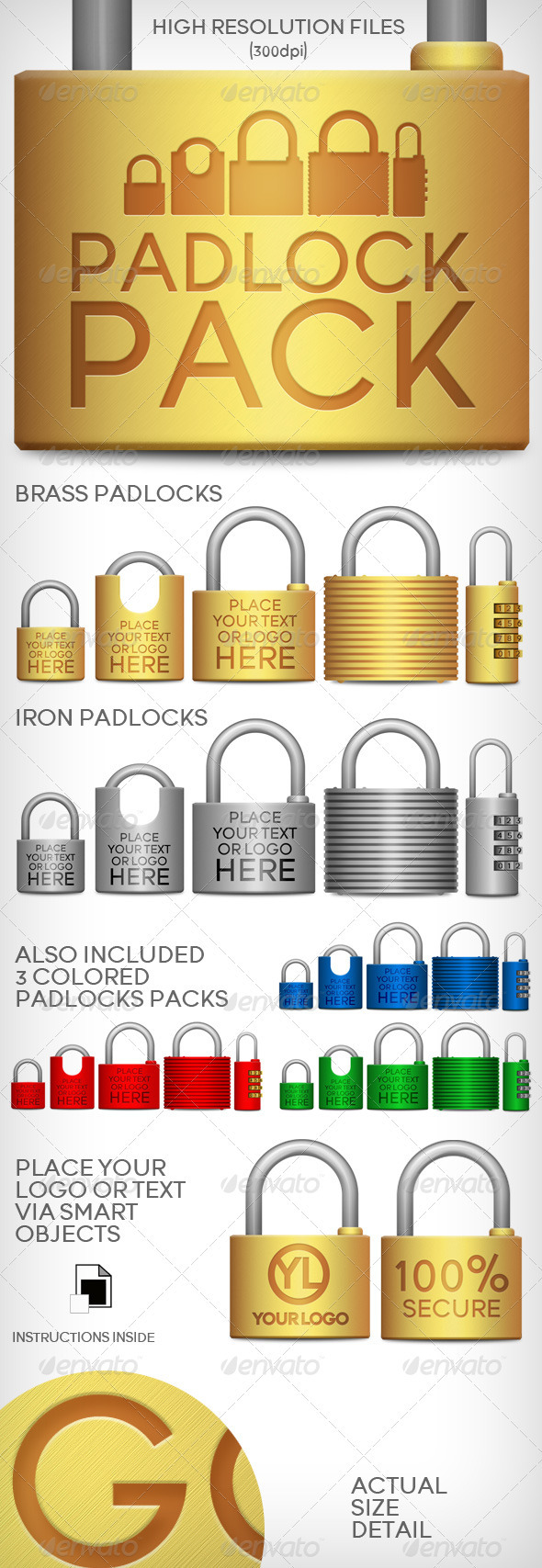 Padlocks Pack - Objects Illustrations