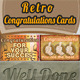 Retro Congratulations Card - GraphicRiver Item for Sale