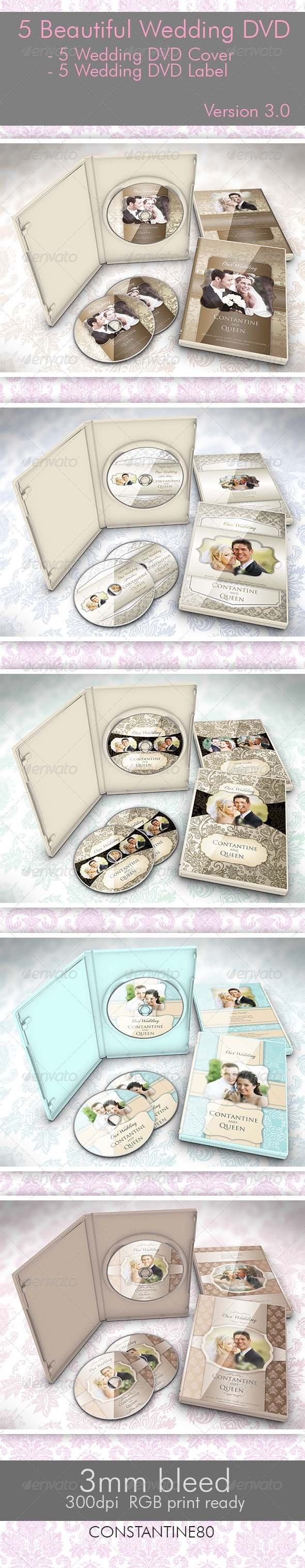 GraphicRiver 5 Beautiful Wedding DVD Ver 3.0 2761859