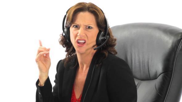 Bad Female Receptionist