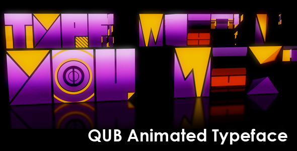 After Effects Project - VideoHive Qub Typeface Animated 2746740