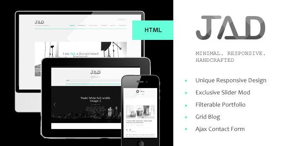 Jad - Minimal Agency/Personal Site Template