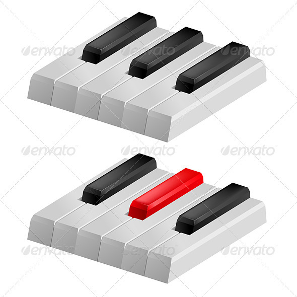 Black and white piano keys - Miscellaneous Vectors