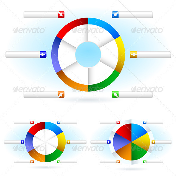 Pie charts - Miscellaneous Vectors
