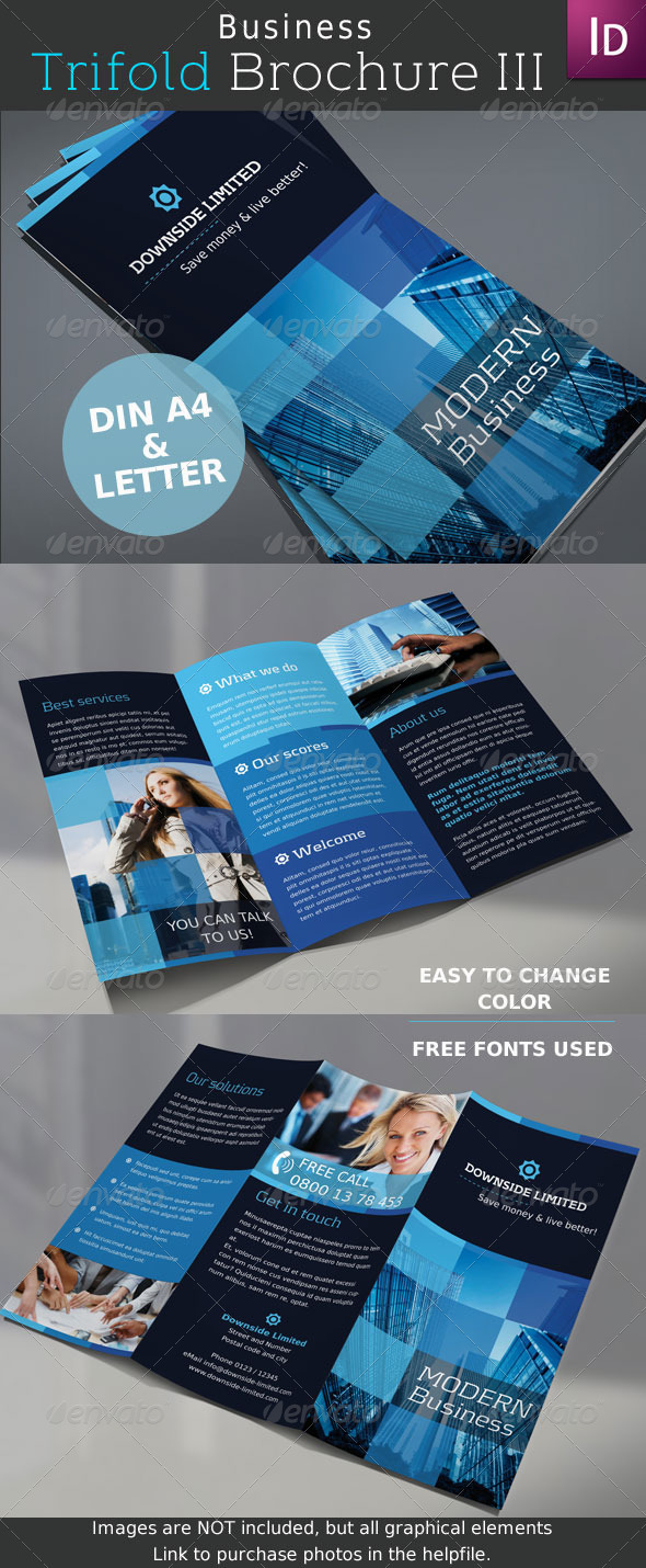 Business Trifold Brochure Vol. III - Corporate Brochures