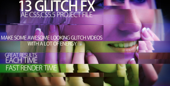 After Effects Project - VideoHive Video glitch FX 2753756