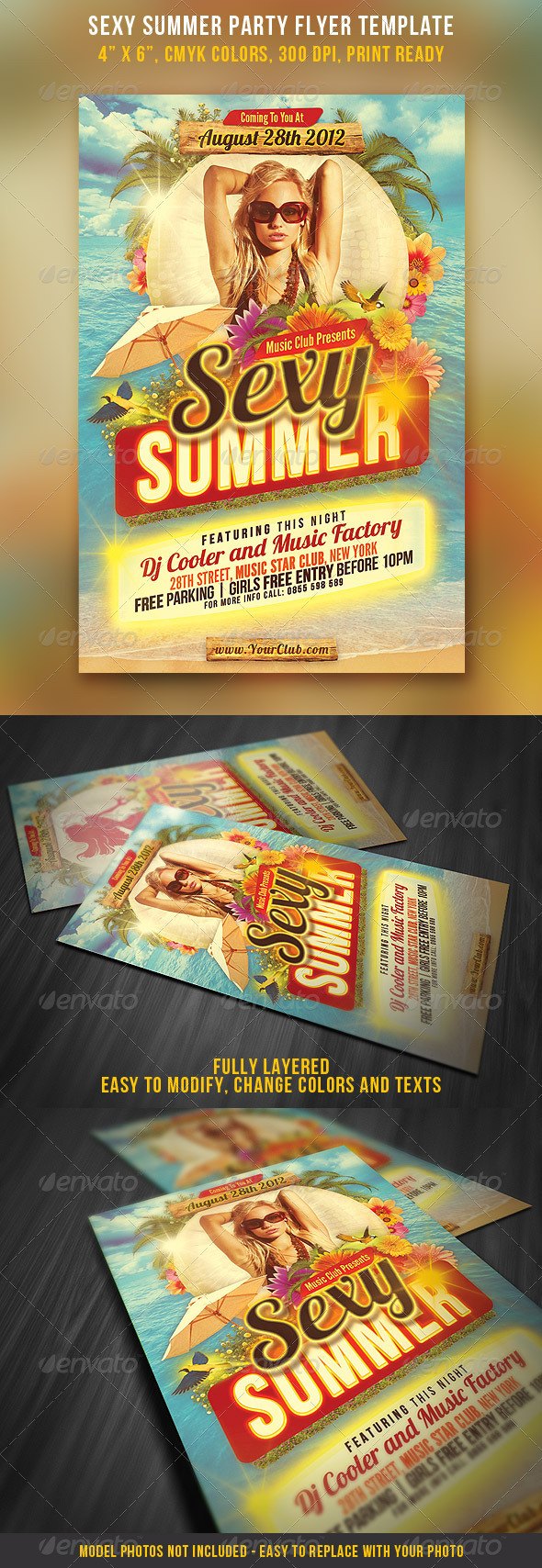Sexy Summer Party Flyer Template - Clubs & Parties Events