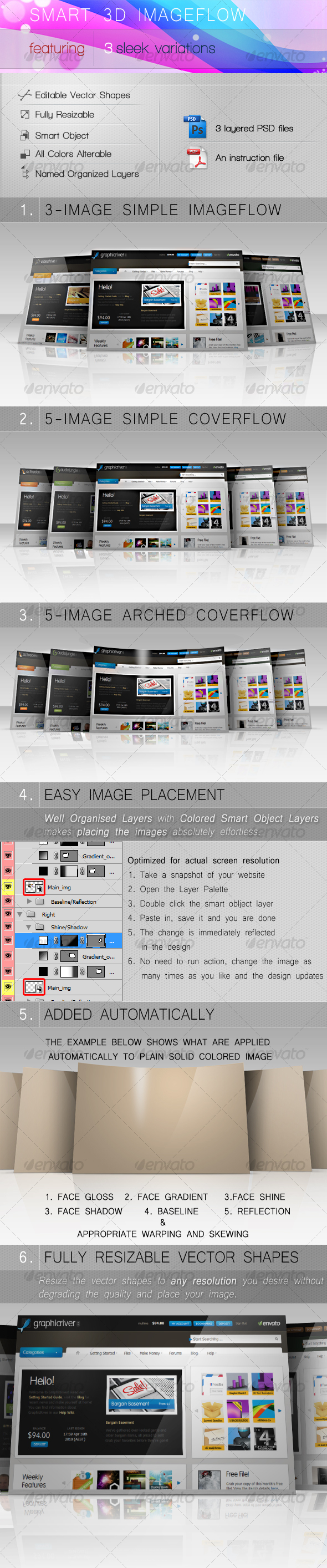 SMART 3D IMAGEFLOW - Web Elements