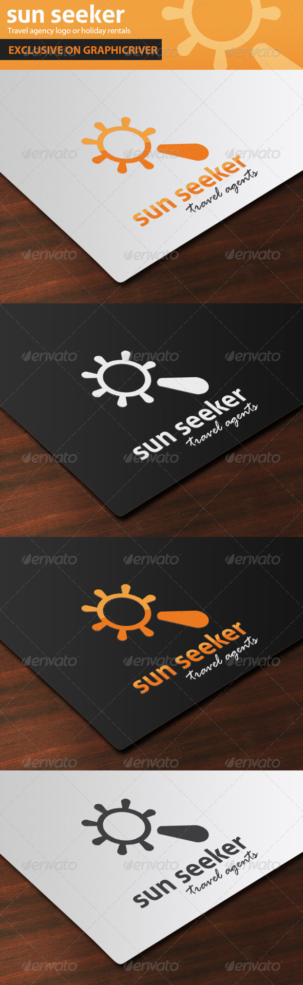 Sun Seeker Travel Agent Logo