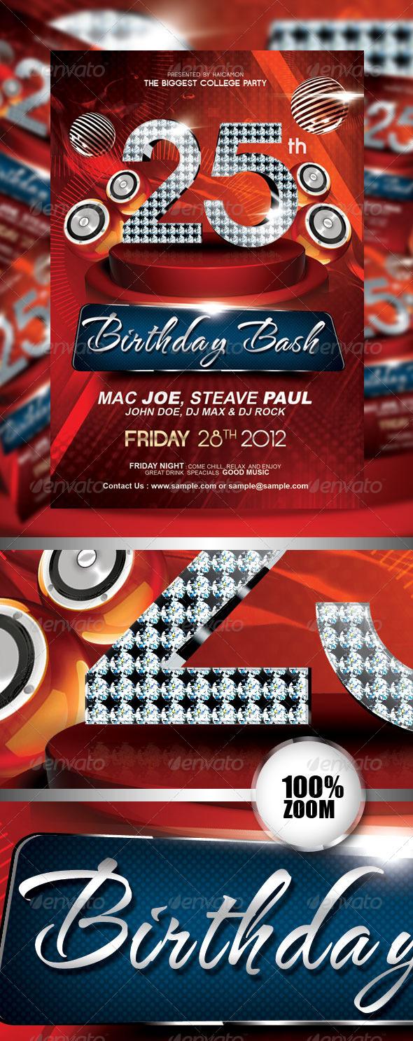 Birthday Invitation  Flyer Vol_3 - Miscellaneous Events