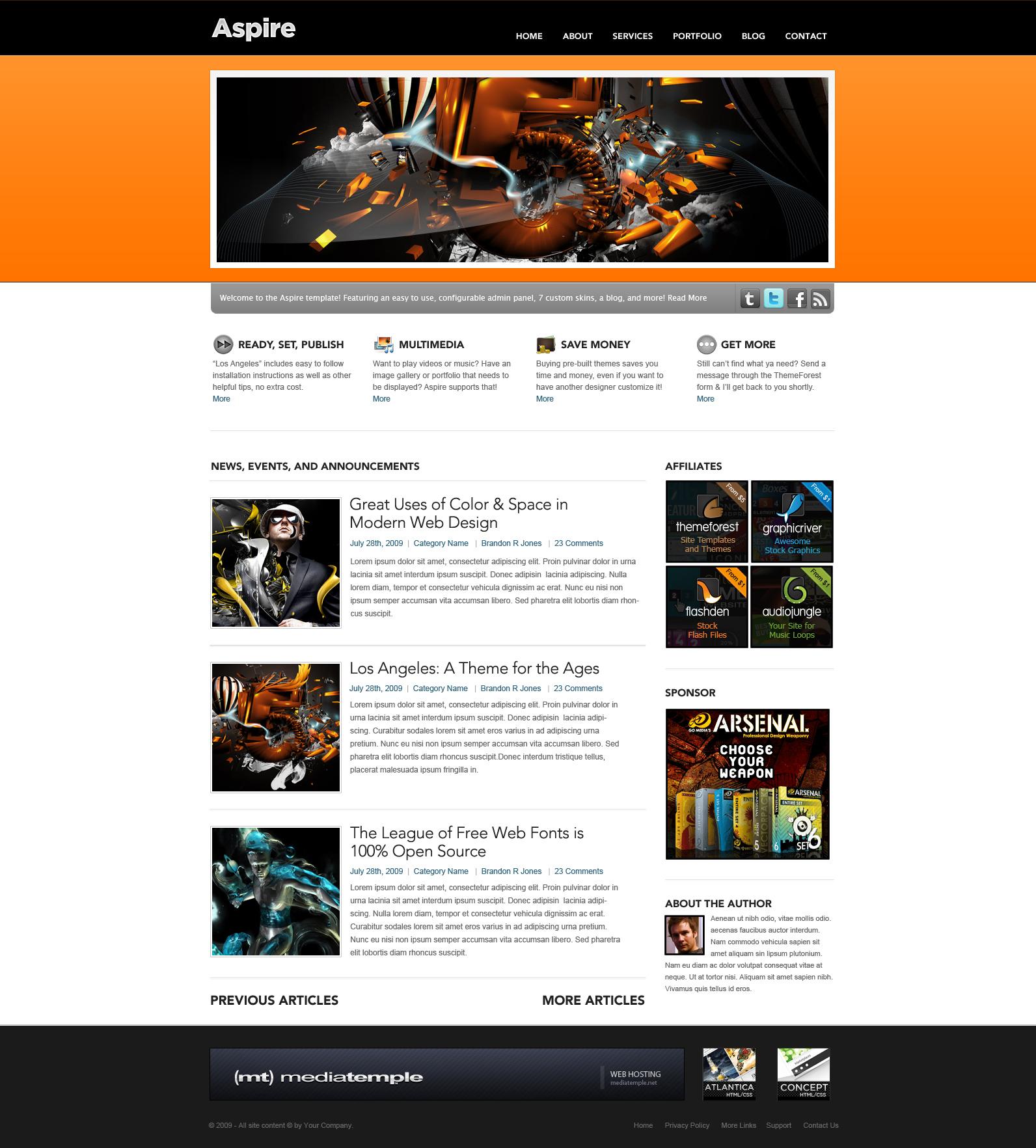 Aspire - 7 in 1 Business and Portfolio Site
