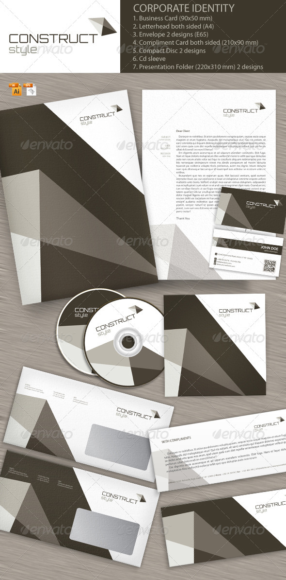 GraphicRiver Construct Style Corporate Identity 2763840