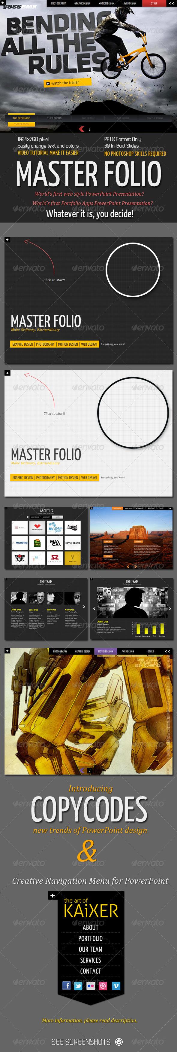 GraphicRiver Master Folio PowerPoint Presentation 300883