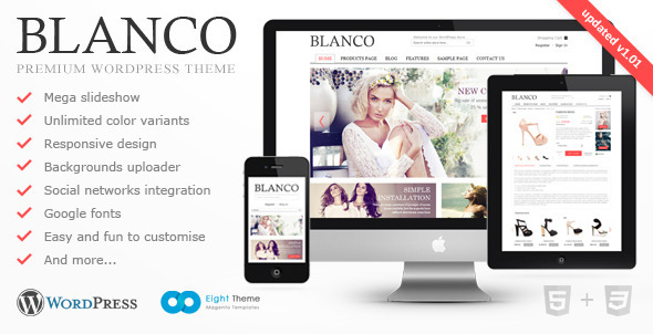 Blanco - Tema Responsive de E-Commerce para WordPress