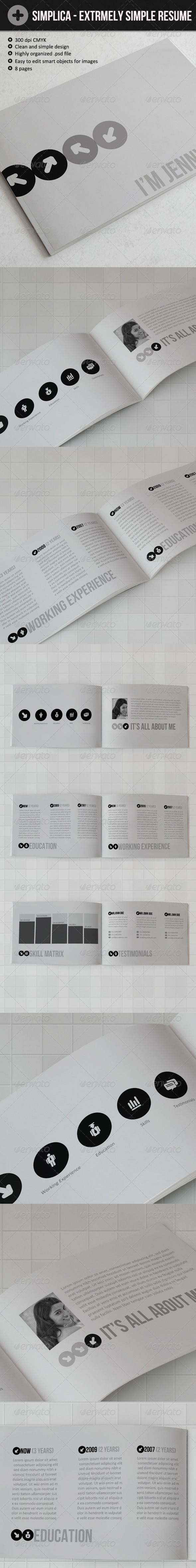 Simplica - Ultra Simple Resume Book - Resumes Stationery